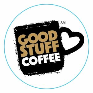 "Good Stuff Coffee Logo Branded Label - 2 1/2"" Round"
